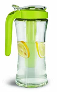 Cuisaid Carafe Pitcher With Cooling Tube (Glass 1 Liter / Green)