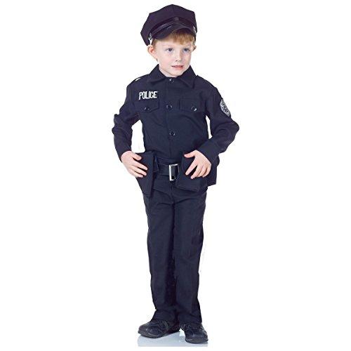 [GSG Police Costume Kids Policeman Police Officer Cop Halloween Fancy Dress] (Cabaret Costumes For Men)