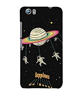99Sublimation Astronauts in space 3D Hard Polycarbonate Designer Back Case Cover for Micromax Canvas Fire 4 A107
