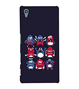 Vizagbeats Monster Icons Back Case Cover for Sony Xperia Z5