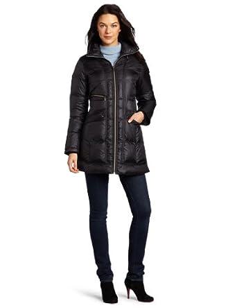 (快抢)可汗Cole Haan女士经典保暖羽绒大衣Travel Down Jacket黑 $180.43