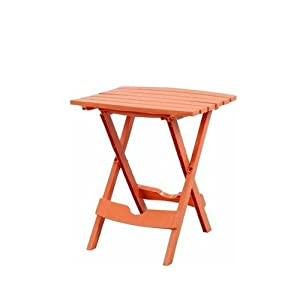Adams 8500 06 3731 quik fold portable resin for Orange outdoor side table
