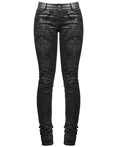 Punk Rave -  Jeans  - Donna nero L 44