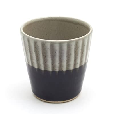 Cup with Brushwork - Black Glaze