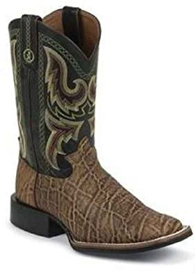 Buy Tony Lama Mens Elephant Grain-RR1114 Western Boot by Tony Lama