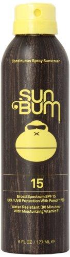 Sun Bum Continuous Spray Sunscreen, SPF 15, 6-Ounce