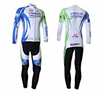 2012 Style Cycling Jersey Set Long Sleeve Jersey Tenacious Life/perspiration Breathable (L)
