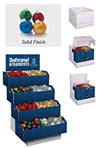 """Pack of 535 Multi-Color Shatterproof Christmas Ball Ornaments - 3"""" and 3.25"""""""
