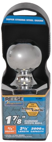 "Best Prices! Reese Towpower 72804 Chrome Interlock 1-7/8"" Hitch Ball"