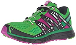 Salomon Women\'s X-Mission 3 W Trail Runner, Peppermint/Deep Dahlia/Athletic Green X, 8.5 D US