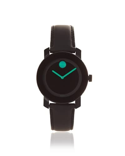 Movado Women's 3600131 Bold Black/Green Leather Watch