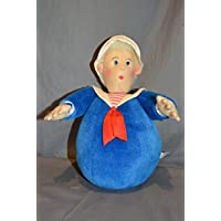 Scylling Roly Poly Sailor Doll Rattle Ball Plush Toy