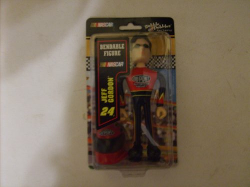 Bobble Dobbles &#8221; Jeff Gordon&#8221; Bendable Figure with Helmet, Dupont uniform