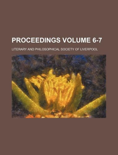 Proceedings Volume 6-7