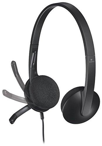 Logitech USB Headset H340 for Internet Calls and Music Plus Bonus 3 foot USB Extension - Bulk Packaging (Black)