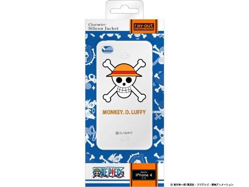 レイアウト iPhone4シリーズ用ワンピース海賊旗コレクションシリコンジャケット ルフィRT-OP3A/LF