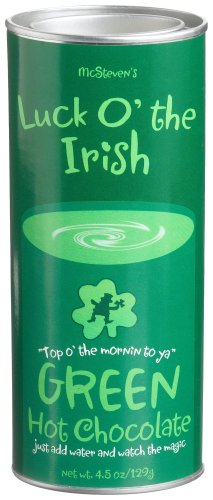 McSteven's Luck O' The Irish Green Hot Chocolate Mix, 4.5-Ounce Tins (Pack of 4)