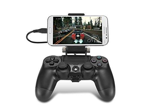 Supremery Playstation 4 Game Control Mount Smartphone Clip Gaming Holder for PlayStation 4 Dualshock Controller Best Clamp Bracket