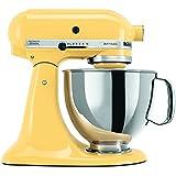 KitchenAid KSM150PSMY Artisan 5-Quart Stand Mixer, Majestic Yellow