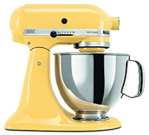 KitchenAid KSM150PSMY 5-Qt. Artisan Series with Pouring Shield - Majestic Yellow