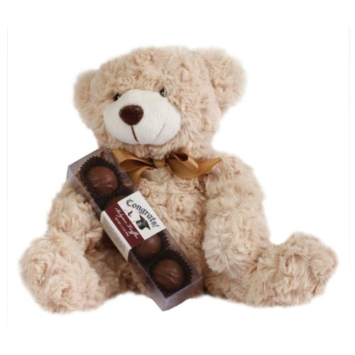 Congrats Plush Bear With Graduation Truffles