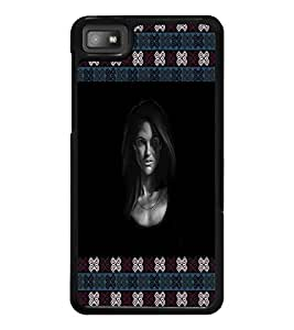 PrintDhaba Lady Face D-3263 Back Case Cover for BLACKBERRY Z10 (Multi-Coloured)