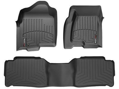2013 Jeep Grand Cherokee Black 1st & 2nd Row FloorLiner (2014 Dodge Durango Weathertech compare prices)