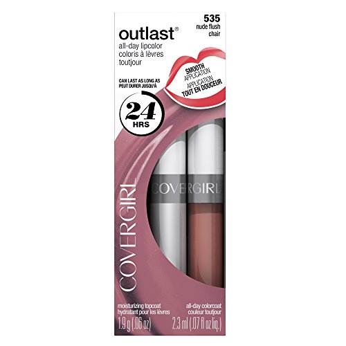 COVERGIRL Outlast All-Day Moisturizing Lip Color, Nude Flush .13 oz (4.2 g)