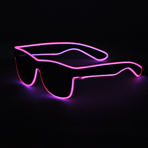 [SYDT Black Frame led safety Light Up Glasses Intelligent Bright Shutter Rave Sunglasses Best for Party Clubbing Concert Carnival Night Disco and Stage] (5 Last Minute Halloween Costumes)