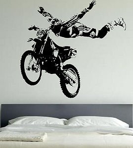 Motocross motor bike extreme sports sticker for Dirt bike wall mural