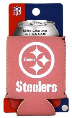 Pittsburgh Steelers Pink Can Kaddy Koozie Coozie Cooler