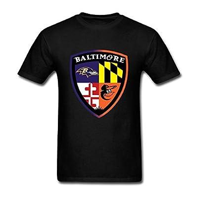 SUNRAIN Men's BALTIMORE ORIOLES RAVENS Fan Sport Logo T Shirt
