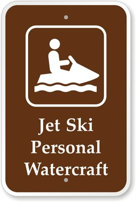 """Jet Ski Personal Watercraft (With Graphic) Sign, 18"""" X 12"""" front-1064625"""