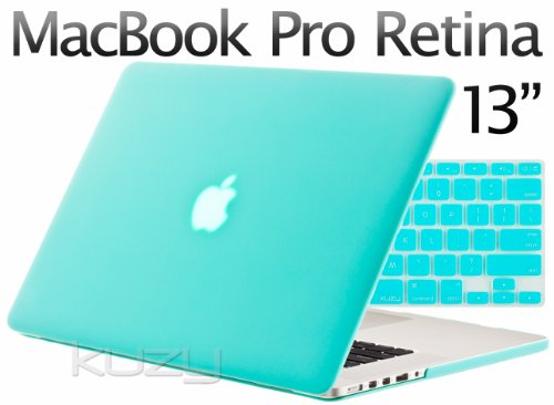 Buy  Kuzy - 2in1 Retina 13-Inch TEAL Rubberized Hard Case and Keyboard Cover for Apple MacBook Pro 13.3