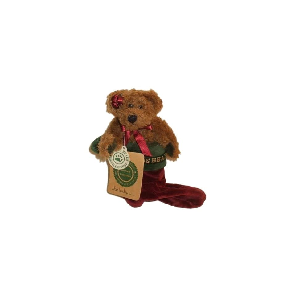 Boyds Bears Plush Felicity Elfburg Christmas Stocking 6 Inches Tall
