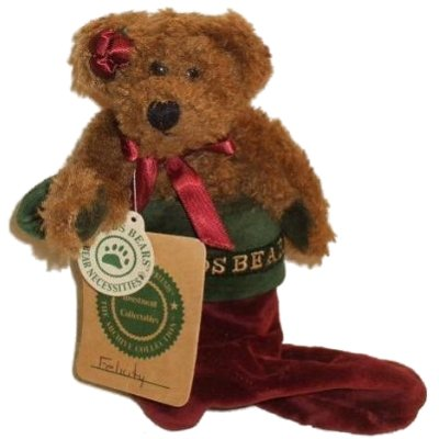 Boyds Bears Plush Felicity Elfburg Christmas Stocking 6 Inches Tall - 1