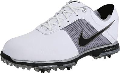 Nike Golf Men's Nike Lunar Control Golf Shoe,White/Black/Metallic Pewter,9.5 M US