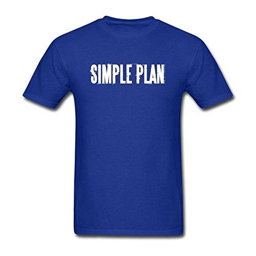 Tommery Men's Simple Plan Logo Short Cotton T Shirt