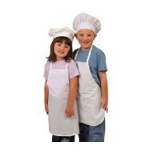 Kids White Role Play Dressup Costume Chef Cooking Apron & Hat Set SM