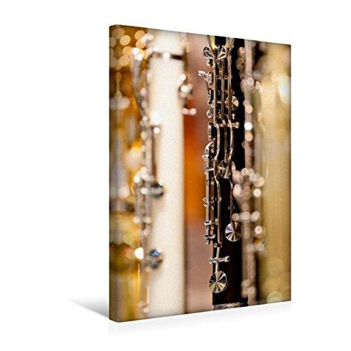 Premium-Textil-Leinwand-30-cm-x-45-cm-hoch-Klarinette