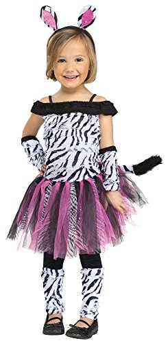 Fun World Costumes Baby Girl's Zebra Toddler Costume