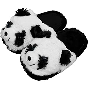Kids Cuddlee Slippers - Panda Bear - Ages 6-12: Amazon.co.uk