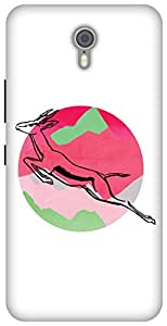 The Racoon Grip printed designer hard back mobile phone case cover for Lenovo Zuk Z1. (Over Moony)