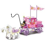 Sluban Building Block Prince Queen Princess Carriage Castle Dream Of Pink Girl Toy B0250 137 Pieces Lego Compatible