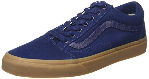 vans-old-skool-zapatillas-unisex-adulto-azul-canvas-gum-43-eu