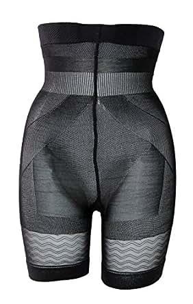 Sveltesse - Panty taille haute minceur - 1 acheté / 1 OFFERT (L - 44/46, Noir)