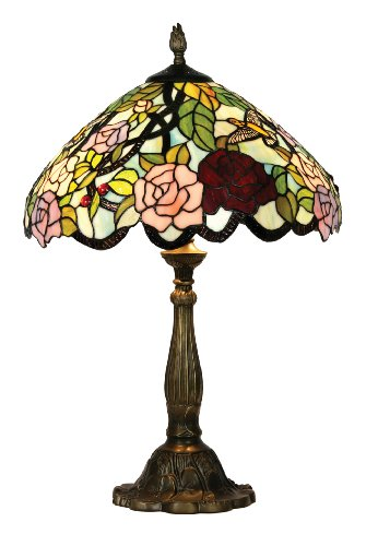Oaks Lighting Aspen Tiffany Table Lamp, 16-inch