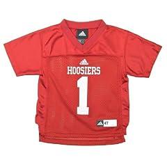 Buy Indiana Hoosiers Toddler Football Jersey: Toddler Red #1 adidas Replica Football Jersey by adidas