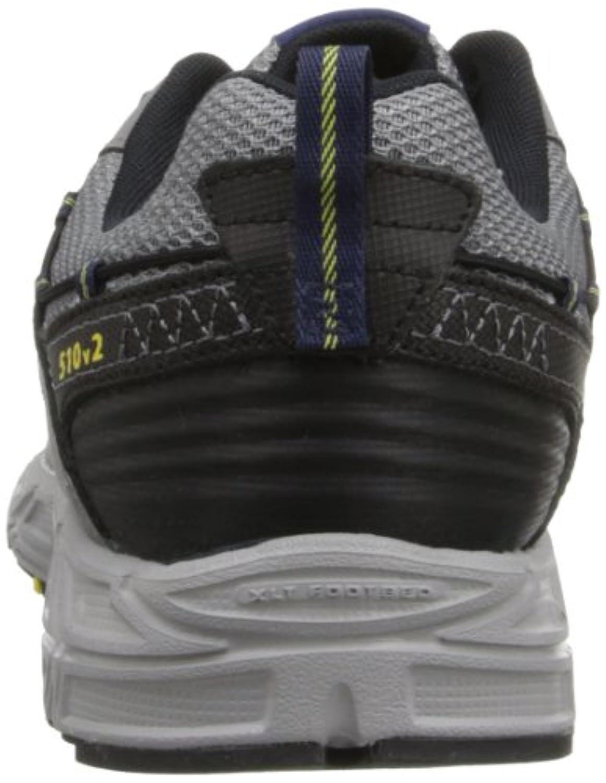 New Balance Men's Mt510 Trail Trail Running Shoe,Grey/Yellow,12 4E US