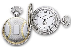 Colibri Hunting Case Goldtone Silvertone Pocket Watch Fancy Design PWS096029